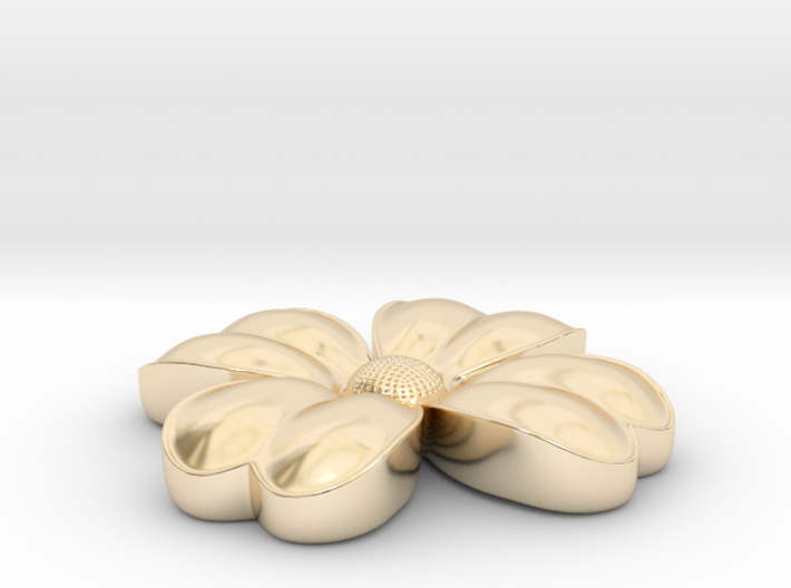 Flower coulomb 3d printed