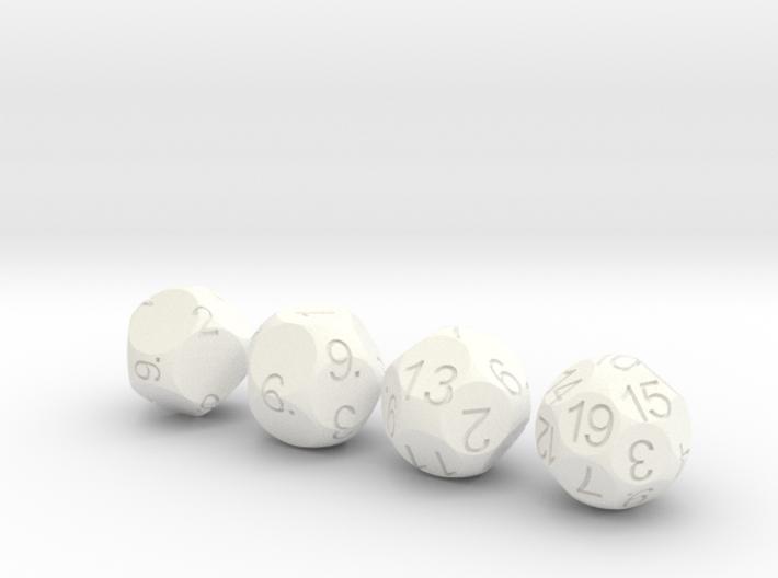 D9 D11 D13 D19 Sphere Dice Set 3d printed