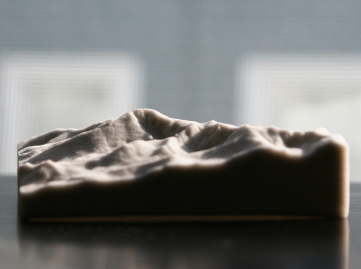 4'' Pikes Peak, Colorado, USA, Sandstone 3d printed This is the view of Pikes from Denver