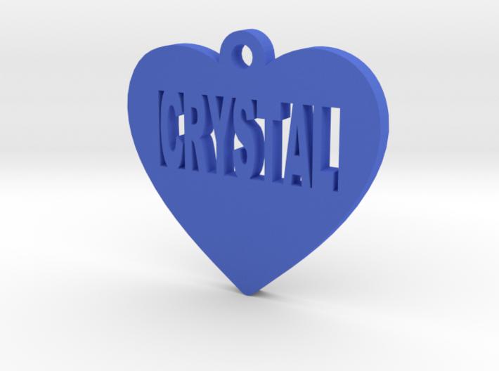 Heart Pet ID Tag - Crystal 3d printed