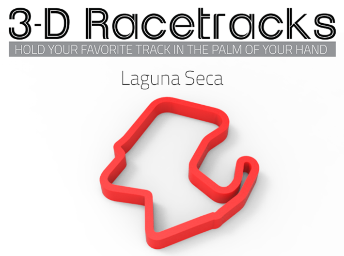 Laguna Seca  3d printed Example of an optional color choice.