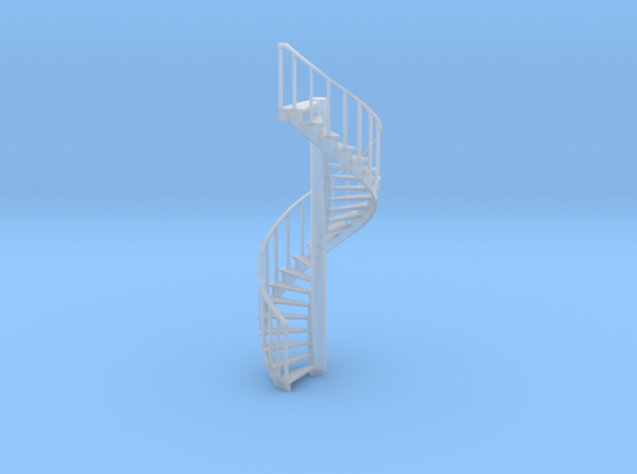 15' Spiral Stair Left Railing 1:48 3d printed