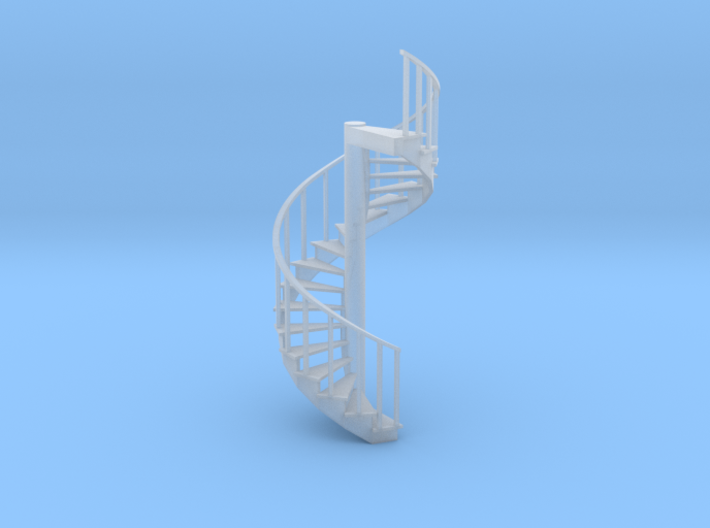 12' Spiral Stair 1:48 Left Railing 3d printed