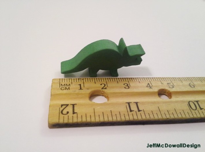 Dino Meeple, Triceratops 3d printed