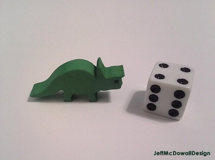 Dino Meeple, Triceratops 3d printed