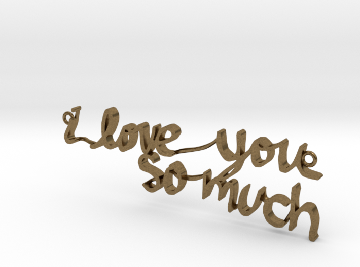 """i love you so much"" Pendant 3d printed"