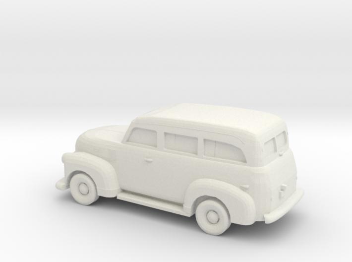 1/87 1947-54 Chevrolet Suburban 3d printed