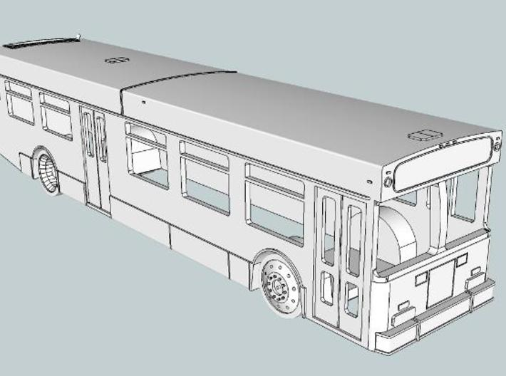NFI D40LF MBTA style 3d printed Front view showing different front door design.