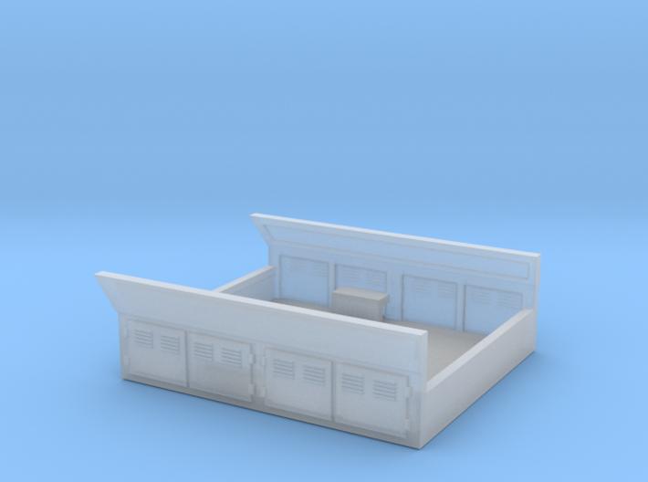 GE Gas Turbine Battery Box (Short) - (N Scale) 1:1 3d printed