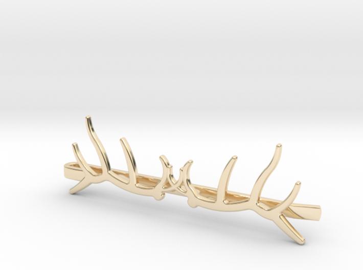Elk Antler Tie Clip Double 3d printed