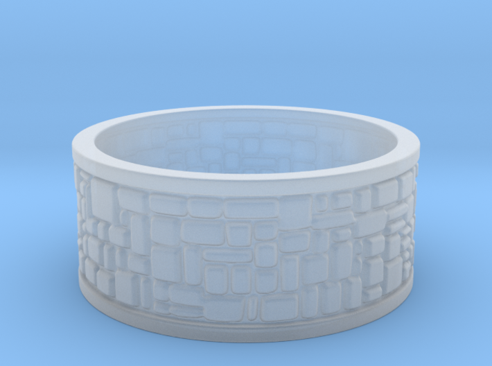 Cobble Stone Ring 3d printed