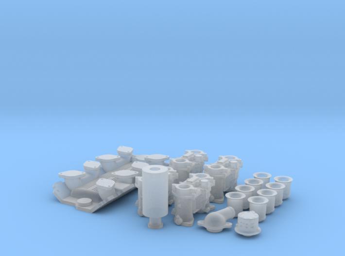 1/12 SBC Weber Intake System 3d printed