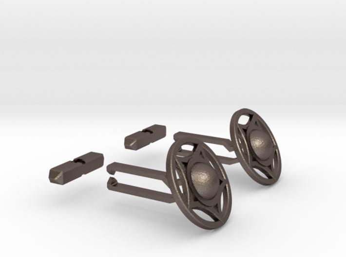 Buckler Cufflinks (14h c. Shield) 3d printed