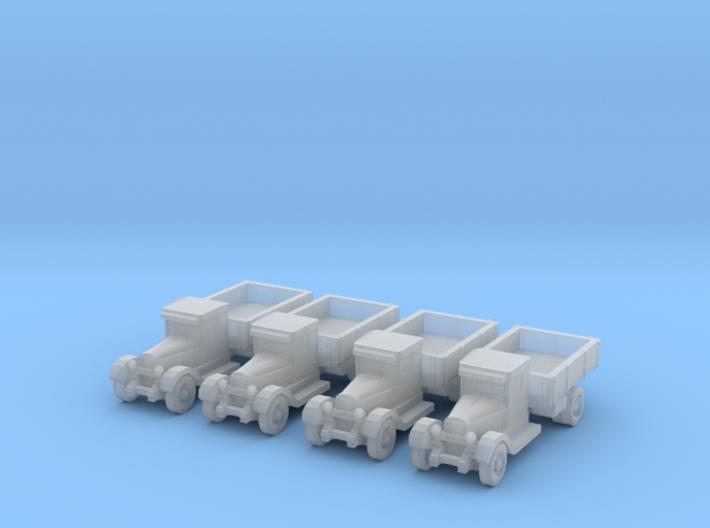 6mm ZIS-5 trucks 3d printed
