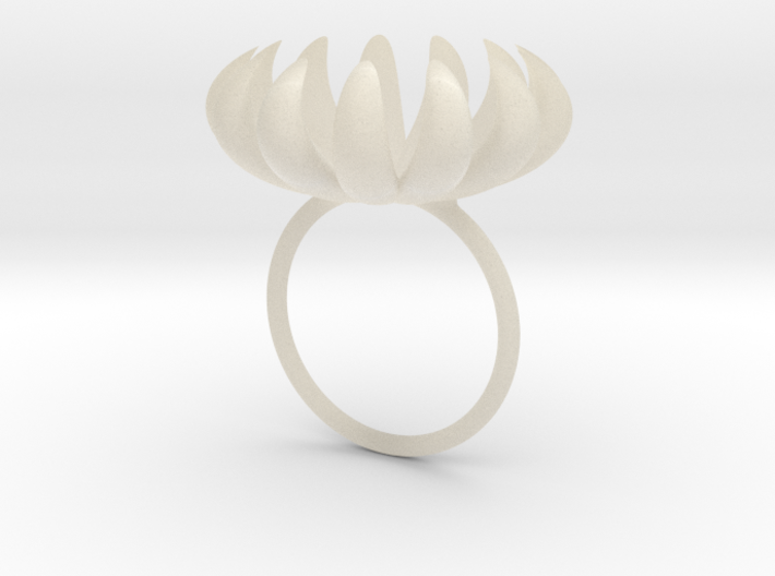 opening bloom ring 3d printed