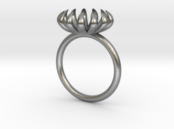 Opening Smaller Bloom ring 3d printed