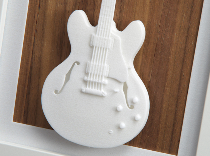 Gibson ES 335 guitar for photo frame 3d printed Frames and background pictures are not included!!Gibson ES 335, Detail