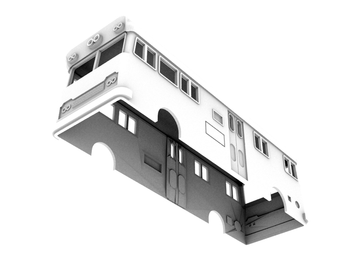 NSWR Paybus Second Series(N/1:160 Scale) 3d printed