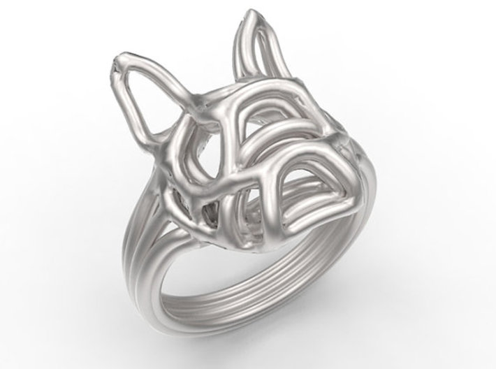 French Bulldog Ring Wire Size 7 3d printed