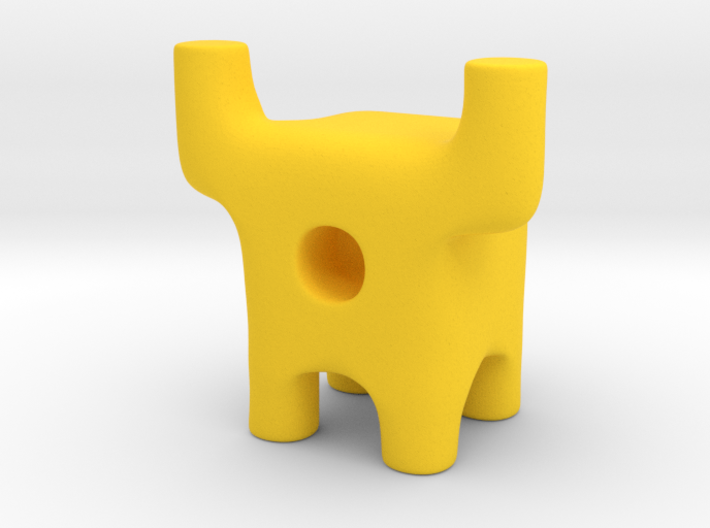 Tiny Longhorn Ugly Friend 3d printed