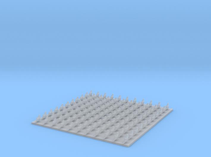 N Scale (1:160) Pigeons (Set of 121) 3d printed