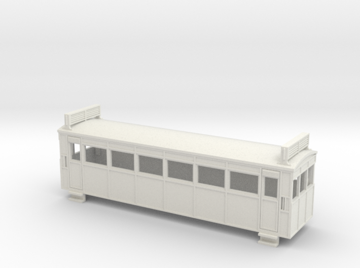 009 Drewry bogie railcar with roof radiators 3d printed