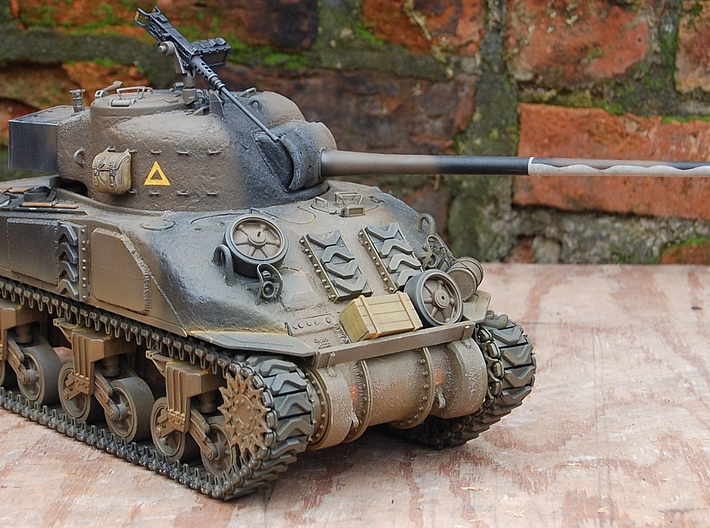 1/16 M4 Sherman 3 piece transmission cover.  3d printed Sherman Firefly