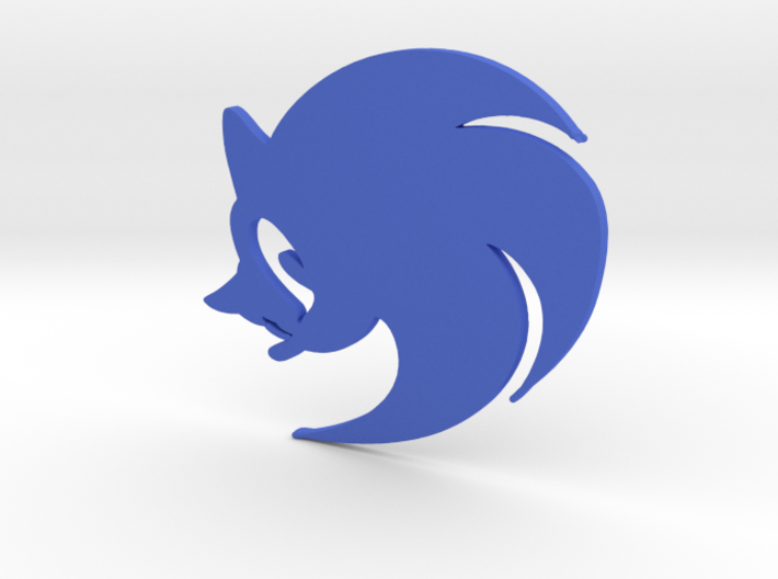 3D Sonic the Hedgehog Logo 3d printed