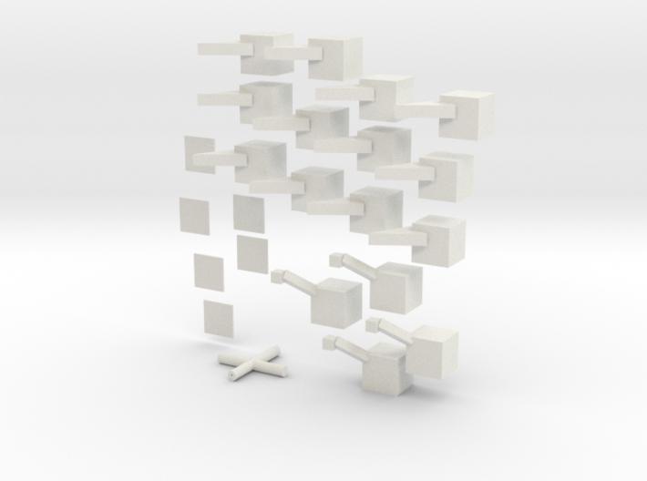 3x3x3 Rubikscube 3d printed