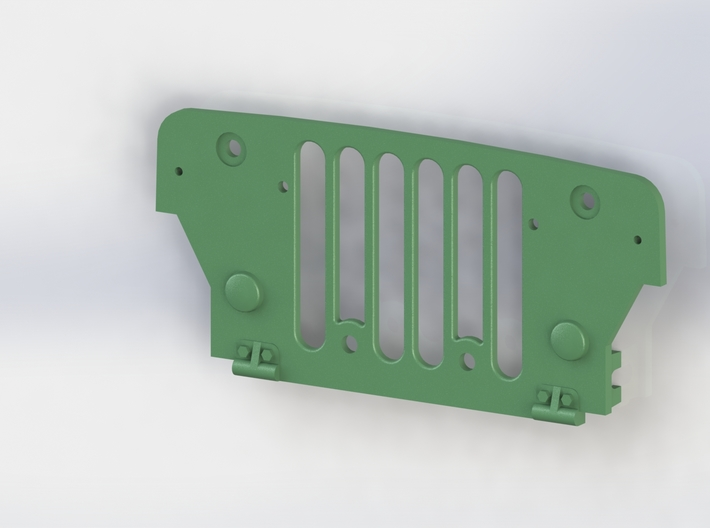 Tamiya Wild Willy M38 Grill panel 3d printed