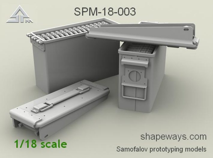 1/18 SPM-18-003 .30cal (7,62mm) ammobox opened 3d printed
