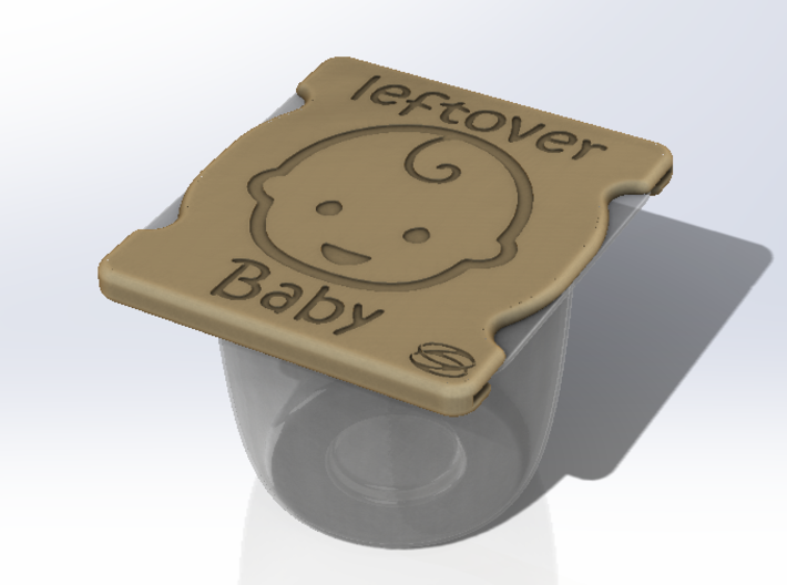 Baby - Leftover baby cover 3d printed