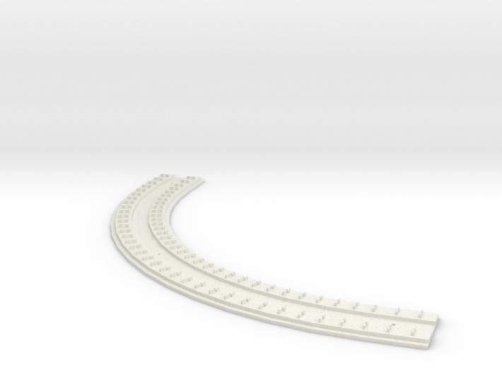 "HO Concrete Direct Fixtation 6"" Rad Track 90 degre 3d printed"