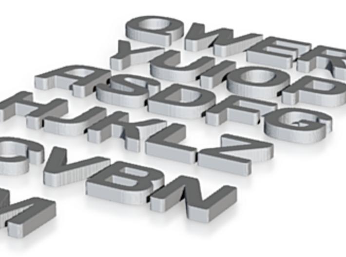 English Alphabet 3d printed