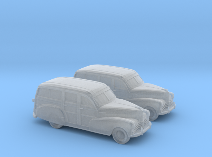 1/160 2X 1948 Chevy Woody 3d printed
