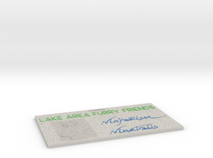 LAFF Badge 3d printed
