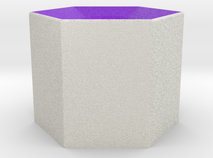 LuminOrb 2.3 - Column Stand 3d printed Shapeways render of Column Display Stand for WISDOM in Full Color Sandstone