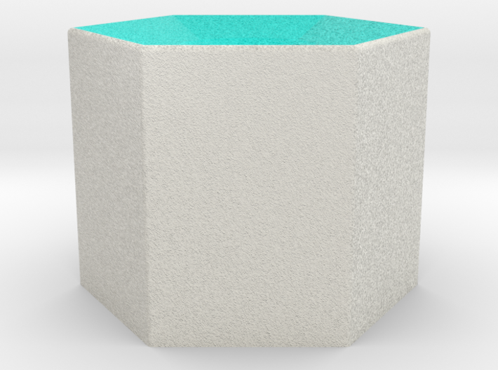 LuminOrb 2.5 - Column Stand 3d printed Shapeways render of Column Display Stand for HARMONY in Full Color Sandstone