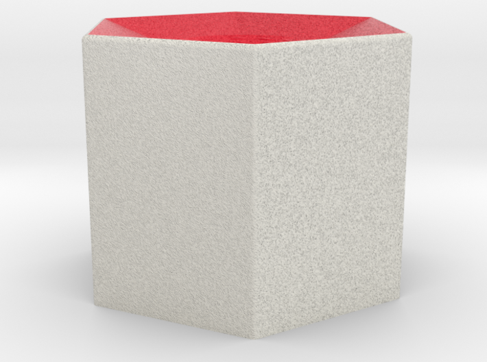 LuminOrb 1.1 - Column Stand 3d printed Shapeways render of Column Display Stand for LOVE in Full Color Sandstone