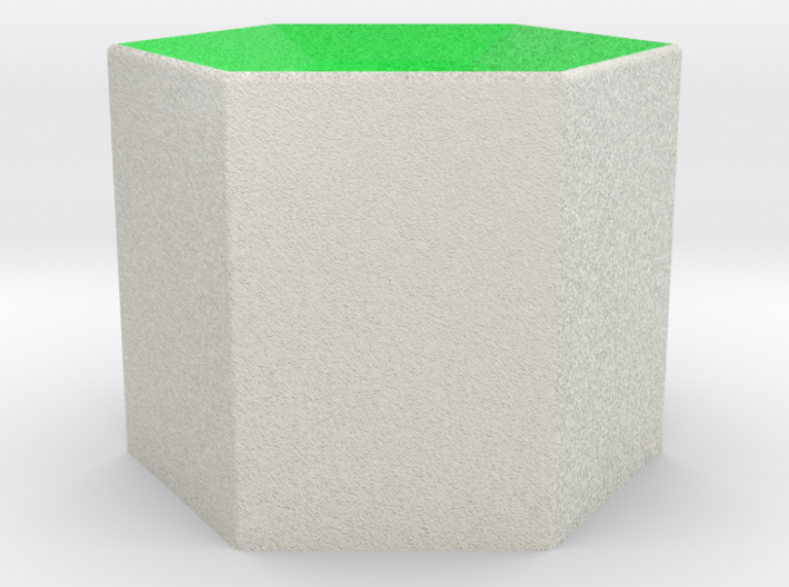 LuminOrb 2.2 - Column Stand 3d printed Shapeways render of Column Display Stand for PEACE in Full Color Sandstone