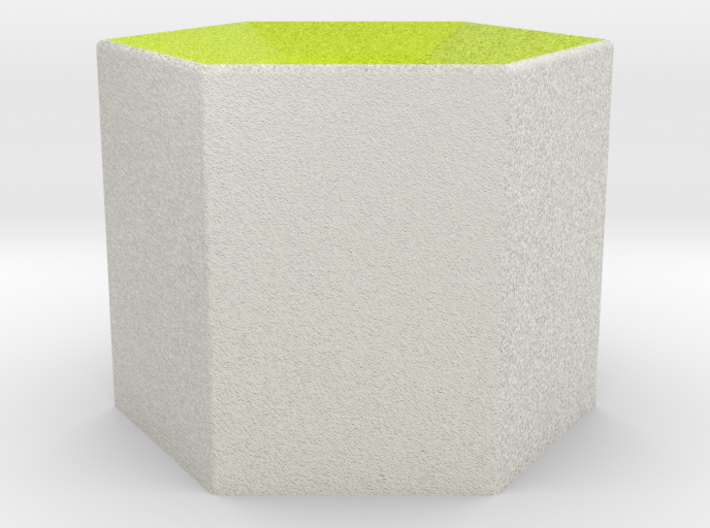 LuminOrb 2.7 - Column Stand 3d printed Shapeways render of Column Display Stand for GRATITUDE in Full Color Sandstone