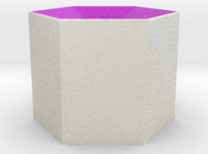 LuminOrb 1.6 - Column Stand 3d printed Shapeways render of Column Display Stand for PASSION in Full Color Sandstone