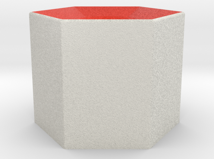 LuminOrb 2.1 - Column Stand 3d printed Shapeways render of Column Display Stand for JOY in Full Color Sandstone