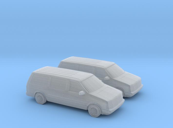 1/160 2X 1987-90 Dodge Grand Caravan 3d printed