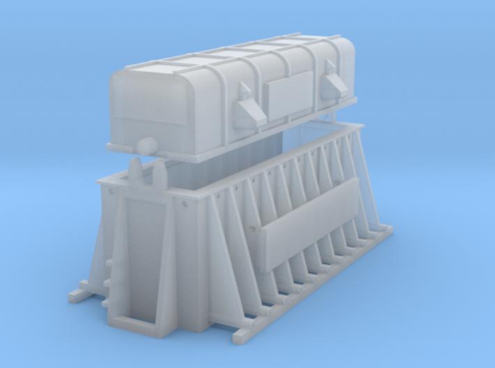 Thermohaube Krupp-Stahl (N 1:160) 3d printed