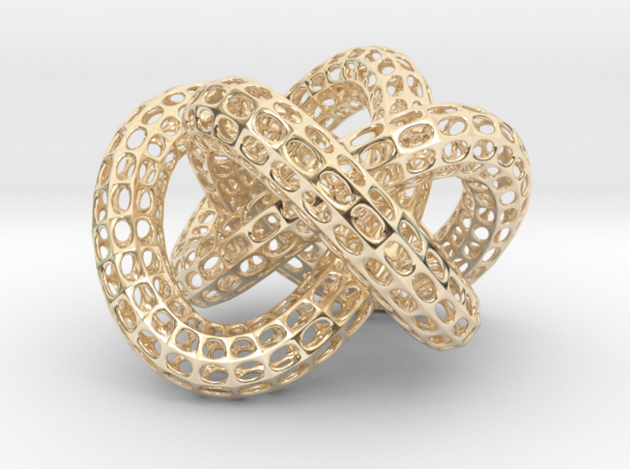 Gold Dollar Knot 3d printed