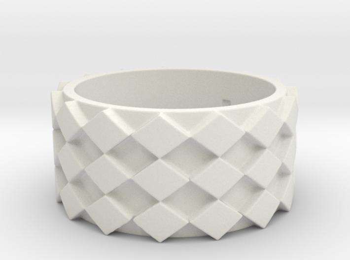 Futuristic Diamond Ring Size 7 3d printed