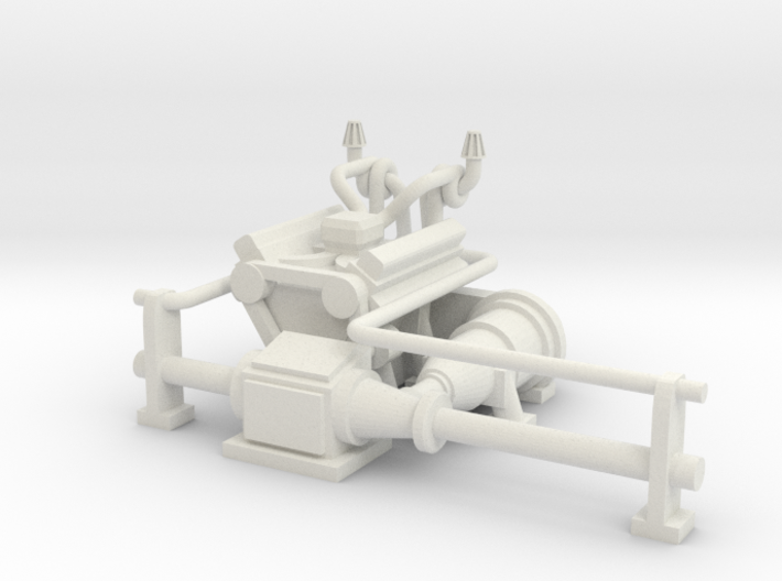 M113 Space Marine Rhino Razorback Engine 3d printed Drop-in engine for M113, Rhino, or Razorback