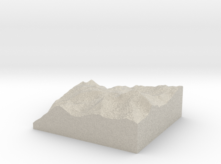 Model of Eagle Pass Mountain 3d printed