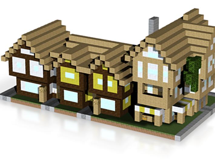Minecraft city house season 2 3d printed